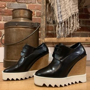 Stella McCartney Platform Derby Wedge Shoes